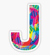 Fun Letter - J Sticker