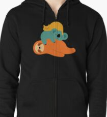 Being Lazy Zipped Hoodie