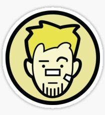 Barton business face Sticker