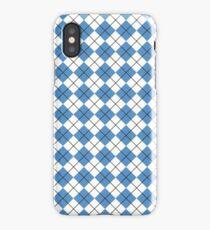 Carolina Blue Argyle iPhone Case