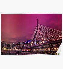 Zakim bridge, Boston MA Poster