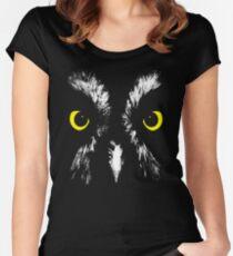 Owl Portrait Women's Fitted Scoop T-Shirt