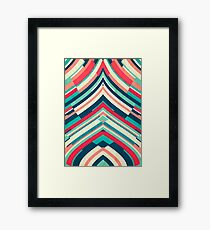 Coloured Lines Framed Print