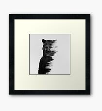 bear graphic nature photography Framed Print