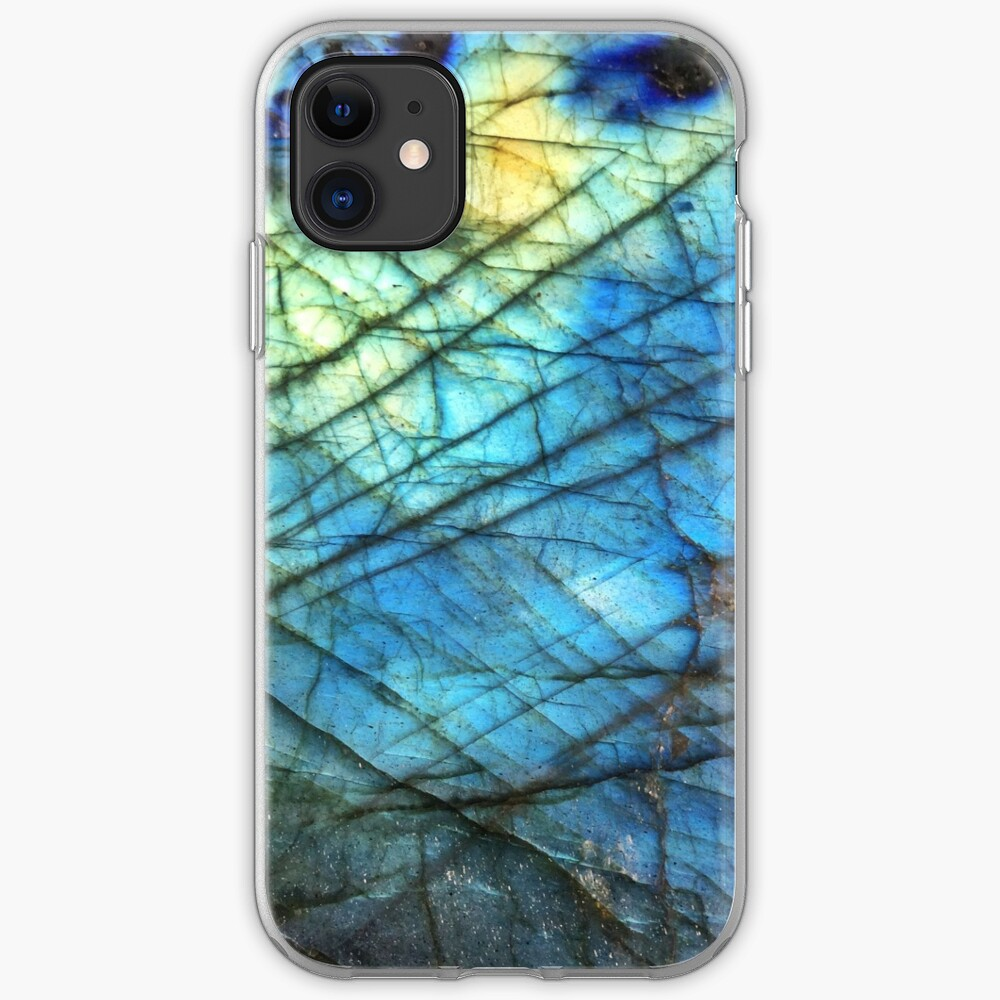 Gold and White Gemstone Pattern iPhone 11 case