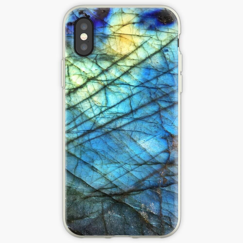 Labradorita azul real Funda y vinilo para iPhone