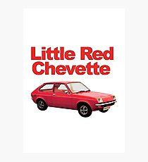 Little Red Chevette Photographic Print
