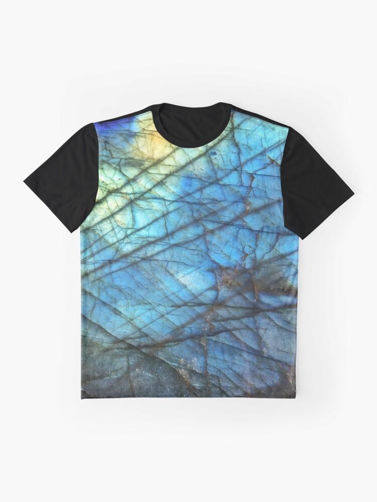 Vista alternativa de Camiseta gráfica Labradorita azul real