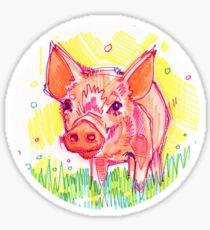 Piglet drawing - 2011 Sticker