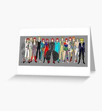Group Bowie Fashion Greeting Card
