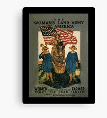 Women's Land Army  of USA WWI Canvas Print