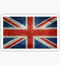 British Union Jack flag Vintage version, scale 3:5 Sticker