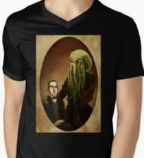 Lovecraft and Cthulhu Mens V-Neck T-Shirt