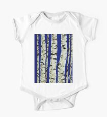Sleeping Giants Aspen Trees Grove Old Winter Sky Blue White Trunks Strong Powerful Kids Clothes