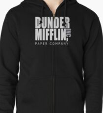 Dunder Mifflin Paper Company - The Office Zipped Hoodie