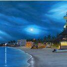 Playa de noche by Angel Ortiz