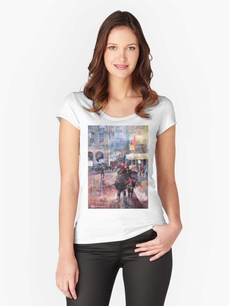London Meeting Point Women's Fitted Scoop T-Shirt Front