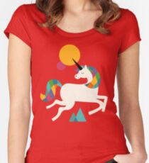 To be a unicorn Women's Fitted Scoop T-Shirt