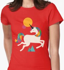 To be a unicorn Women's Fitted T-Shirt
