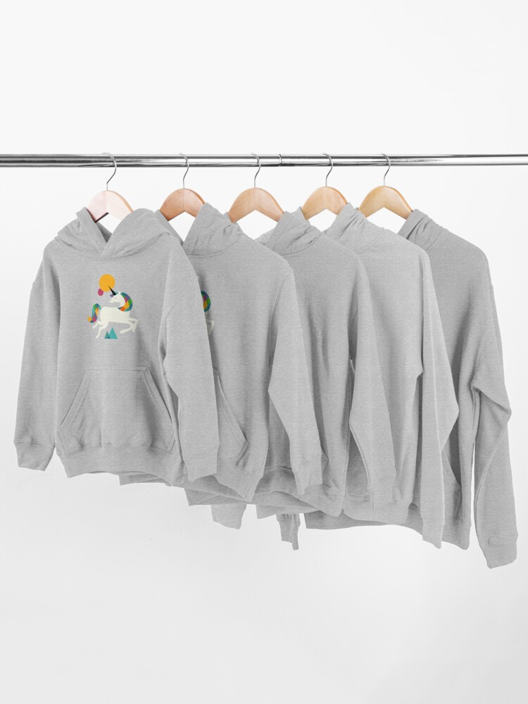 Alternate view of To be a unicorn Kids Pullover Hoodie