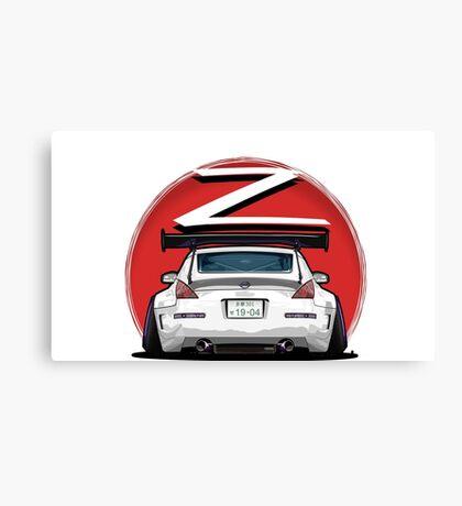 Nissan Fairlady 350Z Z33 White  Canvas Print