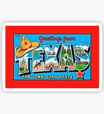 Vintage greetings from Texas Sticker