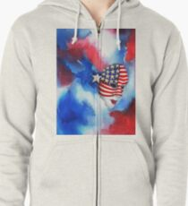 Let Freedom Shine Zipped Hoodie