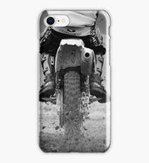 Moto x motorcycle kicking up the dirt iPhone Case/Skin