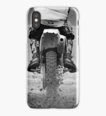 Moto x motorcycle kicking up the dirt iPhone Case