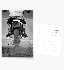 Moto x motorcycle kicking up the dirt Postcards