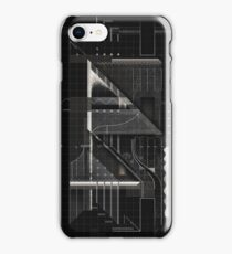 Composition of golden abstract geometry #6 iPhone Case/Skin