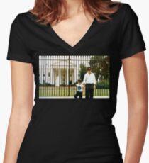White House Pablo Women's Fitted V-Neck T-Shirt