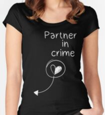 Partner in crime Women's Fitted Scoop T-Shirt