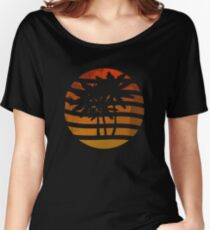 Palm Trees Grunge Sunset Women's Relaxed Fit T-Shirt