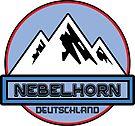 Ski NEBELHORN Deutschland Bayern Skiing Ski Mountain Art Germany by MyHandmadeSigns