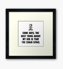 Job Chair Spins Framed Print