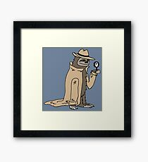 Sleuth Sloth Framed Print
