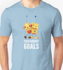 Friendship Goals in white Slim Fit T-Shirt