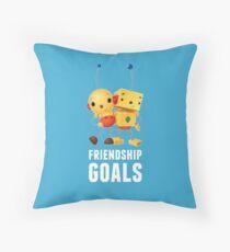 Friendship Goals in white Dekokissen