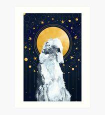 Celestial Borzoi Art Print