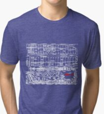 Spirit 2M Blueprint Tri-blend T-Shirt