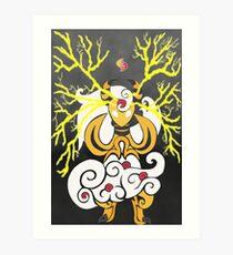 Tribalish Mega Ampharos - Eye of the Storm Art Print