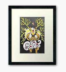 Tribalish Mega Ampharos - Eye of the Storm Framed Print