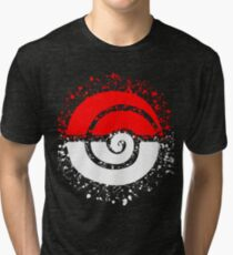 Splattered Tribalish Pokeball! Tri-blend T-Shirt