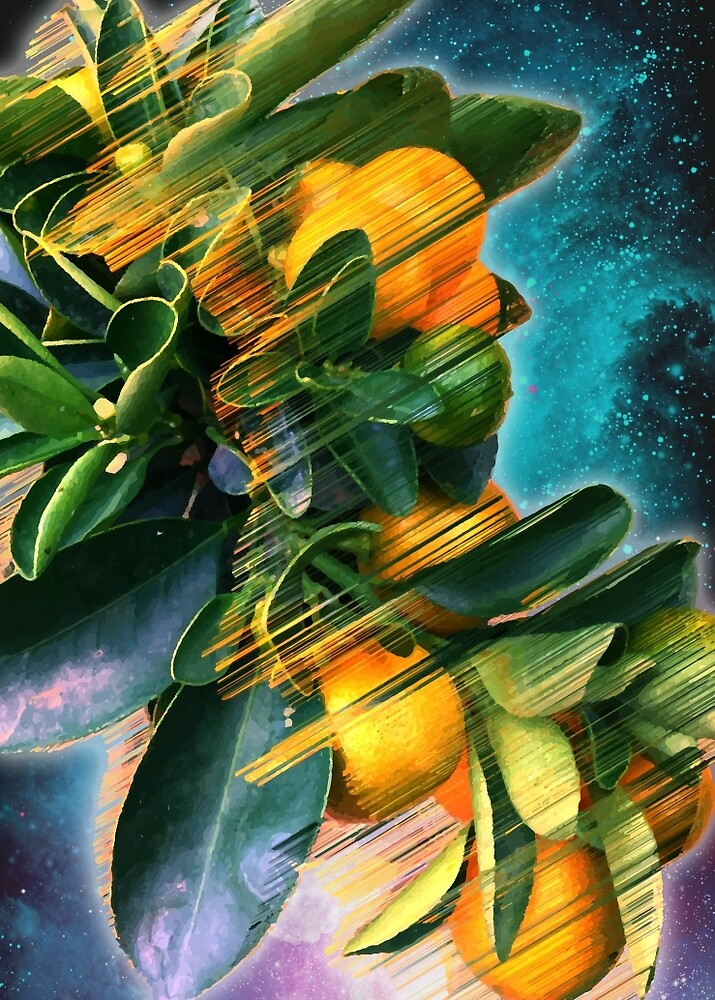 Small fruit tree in outer space by Adam Priester
