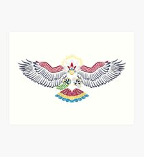 Colored Tribalish Braviary - The All-American Bird Art Print