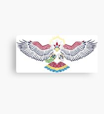 Colored Tribalish Braviary - The All-American Bird Canvas Print
