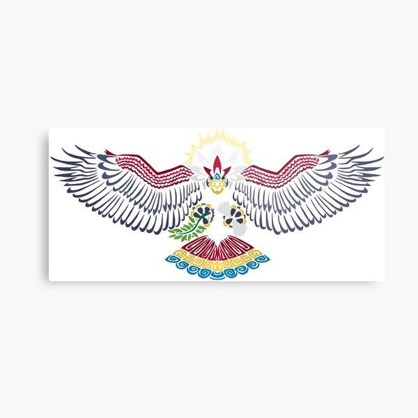 Colored Tribalish Braviary - The All-American Bird Metal Print