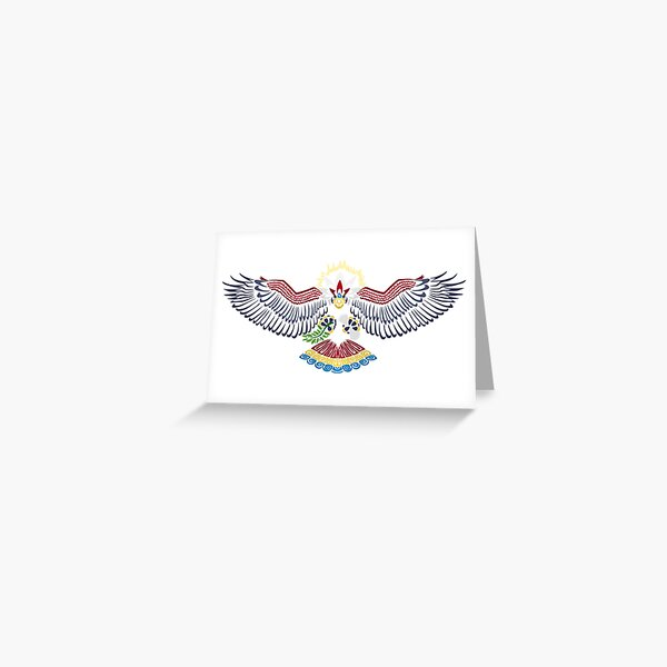 Colored Tribalish Braviary - The All-American Bird Greeting Card