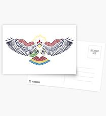Colored Tribalish Braviary - The All-American Bird Postcards